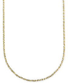 "Giani Bernini Twist 18"" Chain Necklace in 18k Gold-Plate Over Sterling Silver, Created for Macy's"