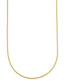 "Corda 18"" Chain Necklace in 18k Gold-Plate Over Sterling Silver, Created for Macy's"
