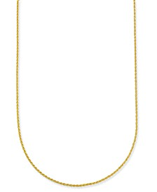 """Giani Bernini Corda 18"""" Chain Necklace in 18k Gold-Plate Over Sterling Silver, Created for Macy's"""