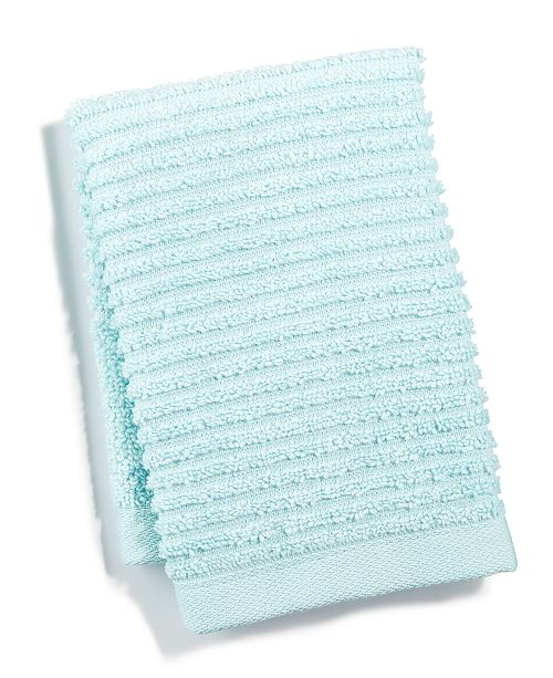 "Martha Stewart Collection 13"" x 13"" Quick Dry Reversible Wash Towel, Created for Macy's"
