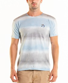 Original Paperbacks South Sea Unicorn Embroidery Stripe Tie Dye Crewneck Tee