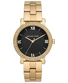 Michael Kors Women's Norie Gold-Tone Stainless Steel Bracelet Watch 38mm