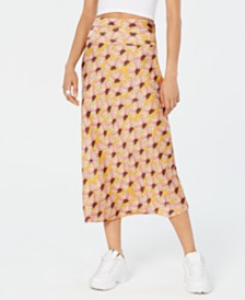 Free People Normani Bias-Printed Skirt