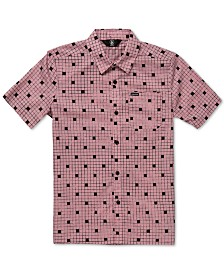 Volcom Big Boys Crossed Up Classic-Fit Tile-Print Shirt