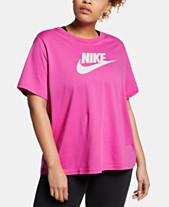 b6c5e157da66b Nike Plus Size Sportswear Cotton Logo T-Shirt