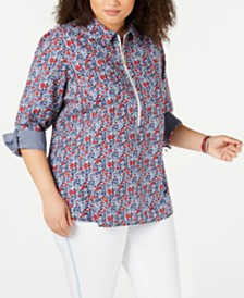 Tommy Hilfiger Plus Size Mayflower Popover Shirt