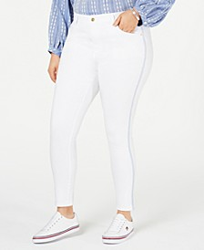Plus Size Bedford Side-Stripe Skinny Jeans, Created for Macy's