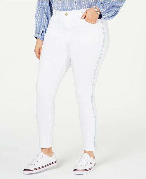 9fada6c3 ... Tommy Hilfiger Plus Size Bedford Side-Stripe Skinny Jeans, Created for  Macy's ...