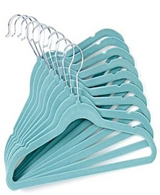 3Stories Tendertyme Baby Unisex Set Of 10 Velvet Baby Clothes Hangers