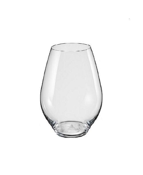 Red Vanilla Saloma Stemless White Wine Glass 14.75 Oz, Set of 6
