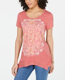 Style & Co Petite Graphic-Print Top, Created for Macy's