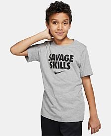 Nike Big Boys Savage Skills Logo T-Shirt