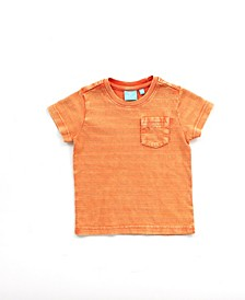 Baby Boy Short Sleeve Textured Stripe Tee