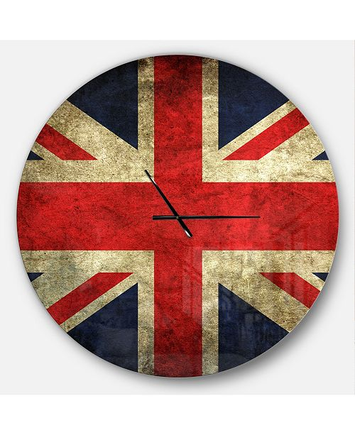 Design Art Designart Oversized Global Round Metal Wall Clock