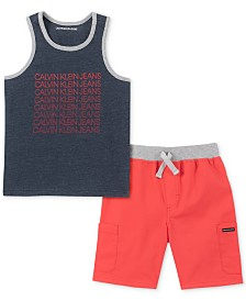 Calvin Klein Baby Boys 2-Pc. Tank Top & Shorts Set