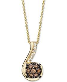 "Chocolatier® Diamond 18"" Pendant Necklace(1/4 ct. t.w.) in 14k Gold"