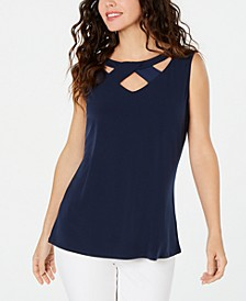 Twist-Neck Tank Top, Created for Macy's