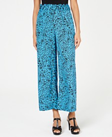 Thalia Sodi Animal-Print Wide-Leg Pants, Created for Macy's