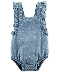 Carter's Baby Girls Cotton Star-Print Bubble Bodysuit