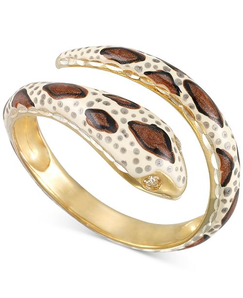 Macy's Snake Statement Ring in 18k Gold-Plated Sterling Silver