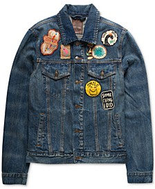 Men's Embroidered Patch Jacket