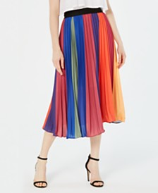 Lucy Paris Pleated Midi Skirt