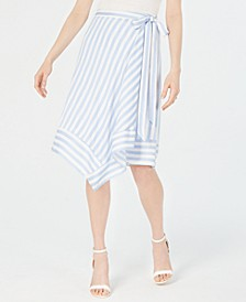 Teagan Striped Wrap Skirt