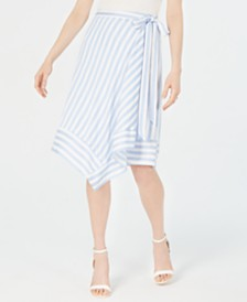 Lucy Paris Teagan Striped Wrap Skirt