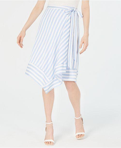 Lucy Paris Teagan Striped Wrap Skirt