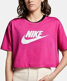 Nike Sportswear Cotton Logo Cropped T-Shirt