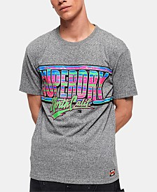 Superdry Men's Acid Textured Logo Graphic T-Shirt