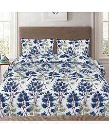 King 3-Pc Printed Duvet Cover Set