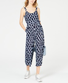 MICHAEL Michael Kors Ikat Cropped Jumpsuit, Regular & Petite