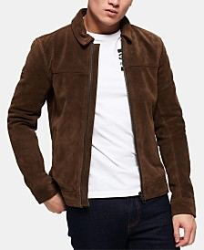 Superdry Men's Curtis Full-Zip Suede Jacket