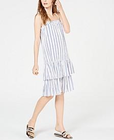 Striped Drop-Waist Dress, Regular & Petite