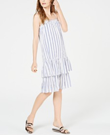 Michael Michael Kors Striped Drop-Waist Dress, Regular & Petite