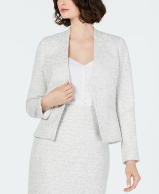 Textured Angled-Front Blazer