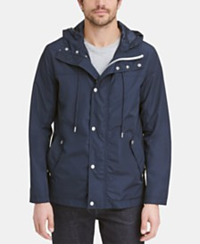 Cole Haan Men's Hooded Rain Coat