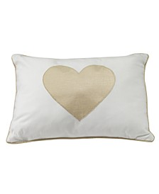 Dawn Heart Decorative Nursery Throw Pillow