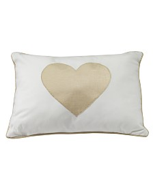 Lambs & Ivy Dawn Heart Decorative Nursery Throw Pillow