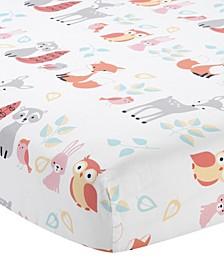 Little Woodland Forest Animals 100% Cotton Baby Fitted Crib Sheet