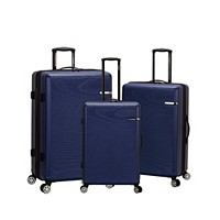 Deals on Rockland Skyline 3 Piece ABS Non-Expandable Luggage Set