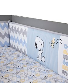 Lambs & Ivy My Little Snoopy™ Chevron 4-Piece Baby Crib Bumper