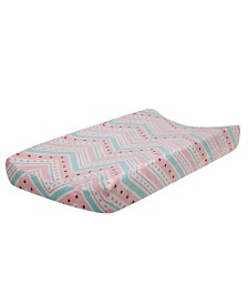 Lambs & Ivy Little Spirit Chevron Baby Changing Pad Cover