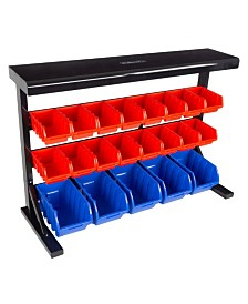 Trademark Global 21 Bin Storage Rack organizer - Wall Mountable Container with Removable Bins by Stalwart