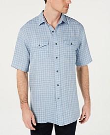 Men's Malone Plaid Linen Shirt