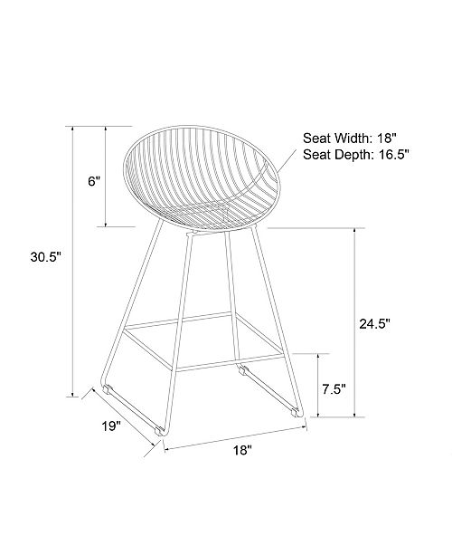 Miraculous Ellis Wire Counter Stool Creativecarmelina Interior Chair Design Creativecarmelinacom