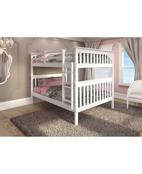 Donco Kids Full Over Full Mission Bunk Bed