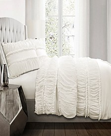 Nova Ruffle 3Pc Full/Queen Comforter Set