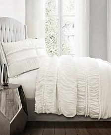 Nova Ruffle 3Pc Full/Queen Comforter Set